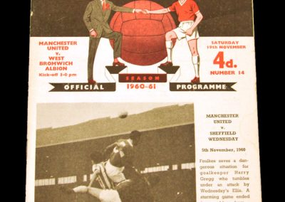 West Bromwich Albion v Manchester United 19.11.1960