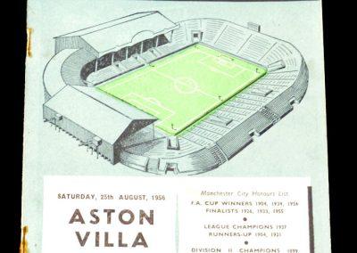 Aston Villa v Manchester City 25.08.1956
