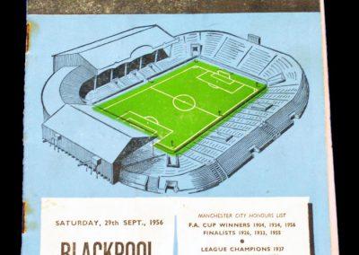 Blackpool v Manchester City 29.09.1956