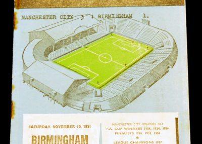 Birmingham City v Manchester City 10.11.1956