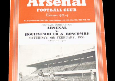 Bournemouth & Boscombe v Arsenal 06.02.1954