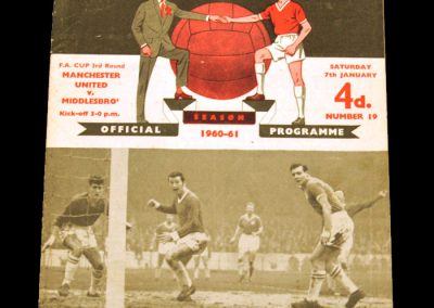 Middlesbrough v Manchester United 07.01.1961 | FA Cup 3rd Round