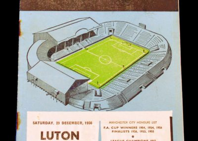 Luton Town v Manchester City 29.12.1956