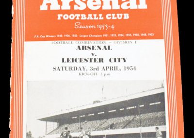 Leicester City v Arsenal 03.04.1954