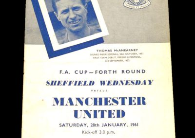 Sheffield Wednesday v Manchester United 28.01.1961 | FA Cup 4th Round