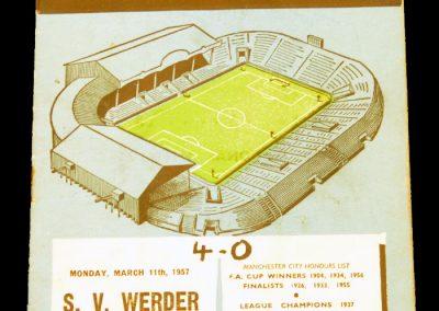 SV Werder Bremen v Manchester City 11.03.1957