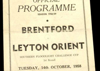 Leyton Orient v Brentford 14.10.1958