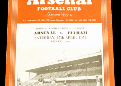 Fulham v Arsenal 17.04.1954