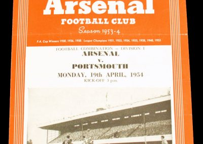 Portsmouth v Arsenal 19.04.1954