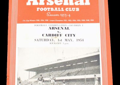 Cardiff City v Arsenal 01.05.1954
