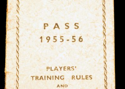 Players Pass Workington AFC 1955 - 1956