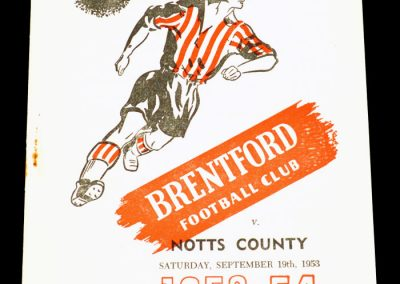 Brentford v Notts County 19.09.1953 | Listed on the team sheet but transferred to Arsenal today
