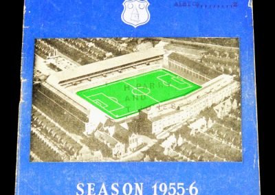 Everton FC v West Bromwich 31.08.1955