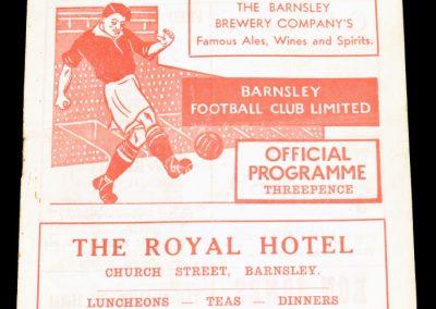 Barnsley FC v Bury 03.09.1955
