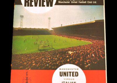 Manchester United v Italian Olypmic XI 15.08.1967