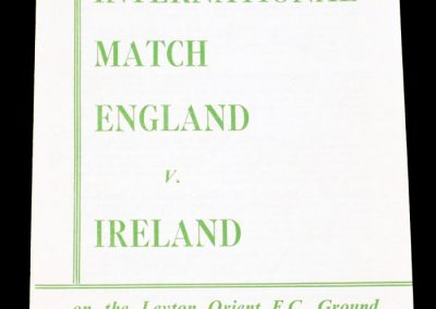 England v Ireland 11.05.1957 | Youth