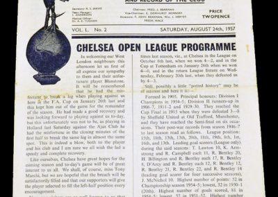 Tottenham Hotspur v Chelsea 24.08.1957