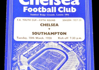 Chelsea v Southampton 18.03.1958 | FA Youth Cup 5th Round