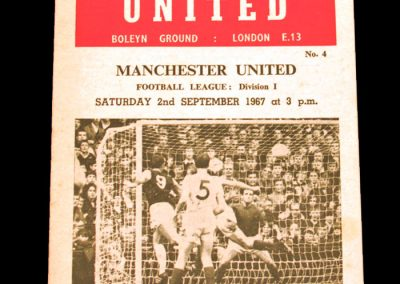 West Ham United v Manchester United 02.09.1967