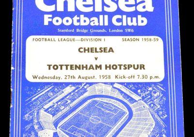 Tottenham Hotspur v Chelsea 27.08.1958