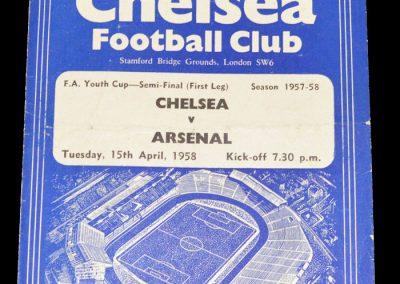 Chelsea v Arsenal 15.04.1958 | FA Youth Cup Semi Final