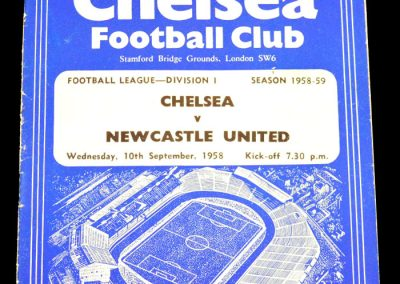 Newcastle United v Chelsea 10.09.1958