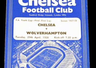 Chelsea v Wolverhampton 29.04.1958 | FA Youth Cup Final First leg
