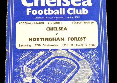 Nottingham Forest v Chelsea 27.09.1958