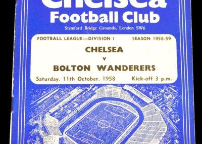 Bolton Wanderers v Chelsea 11.10.1958