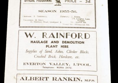 Liverpool City v Workington 22.10.1955 | Rugby League