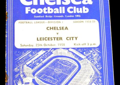 Leicester City v Chelsea 25.10.1958