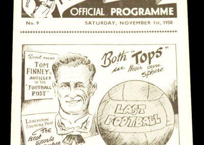 Preston North End v Chelsea 01.11.1958