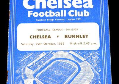 Chelsea v Burnley 29.10.1955