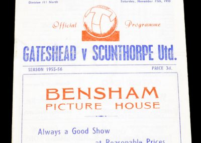 Gateshead v Scunthorpe United 12.11.1955