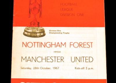 Nottingham Forest v Manchester United 28.10.1967