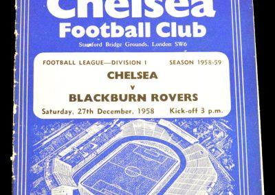 Blackburn Rovers v Chelsea 27.12.1958
