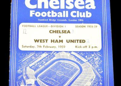 West Ham United v Chelsea 07.02.1959