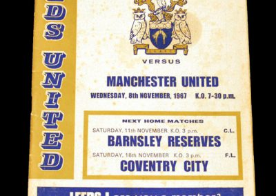 Leeds United v Manchester United 08.11.1967
