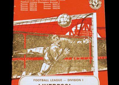 Liverpool v Manchester United 11.11.1967
