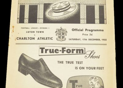 Luton Town FC v Charlton Athletic 17.12.1955