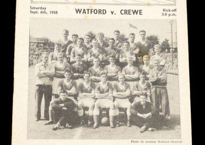 Crewe v Watford 06.09.1958