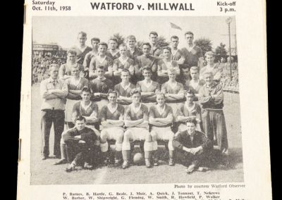 Millwall v Watford 11.10.1958