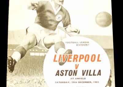 Aston Villa v Liverpool 29.12.1962 | Postponed