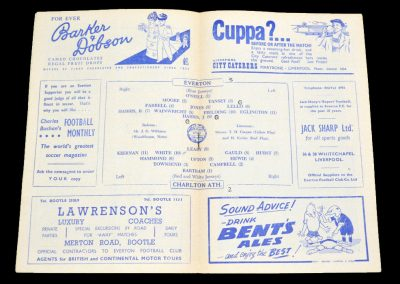 Everton v Charlton Athletic 14.01.1956
