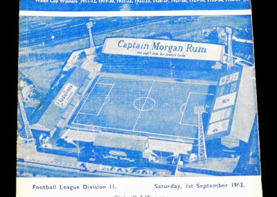 Cardiff City v Middlesbrough 01.09.1962