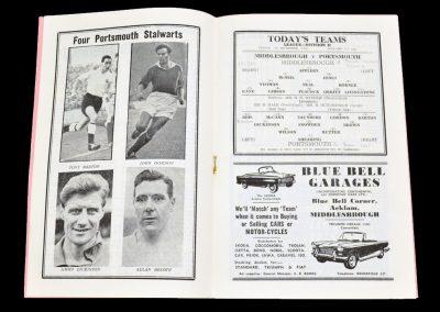 Middlesbrough v Portsmouth 07.09.1962
