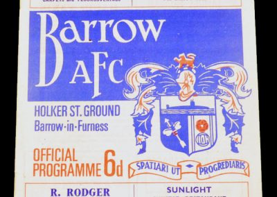 Barrow AFC v Manchester United 19.02.1968 | Lancs Cup