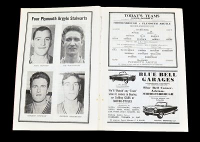Middlesbrough v Plymouth Argyle 22.09.1962