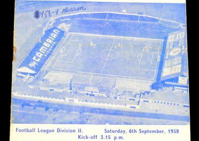 Sheffield United v Cardiff City 06.09.1958
