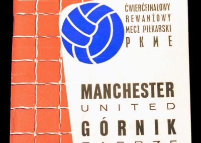 Gornik Zabrze (Poland) v Manchester United 13.03.1968 | Euro Champion Cup Quarter Final 2nd